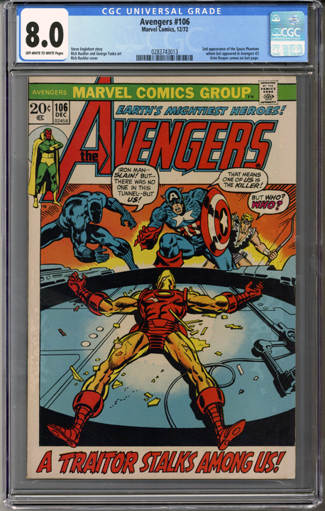 Colorado Comics - Avengers #106  CGC 8.0