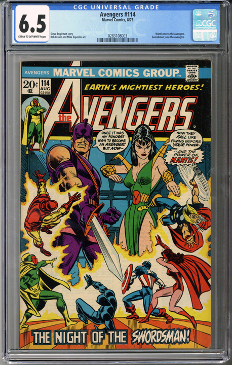 Colorado Comics - Avengers #114  CGC 6.5