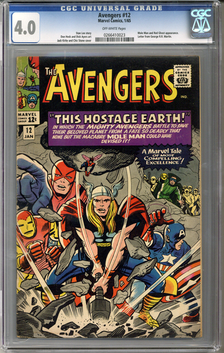 Colorado Comics - Avengers #12  CGC 4.0