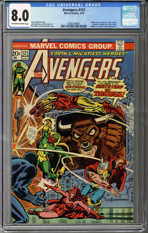Colorado Comics - Avengers #121  CGC 8.0