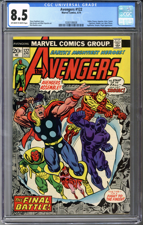 Colorado Comics - Avengers #122  CGC 8.5