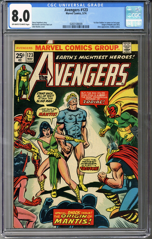 Colorado Comics - Avengers #123  CGC 8.0