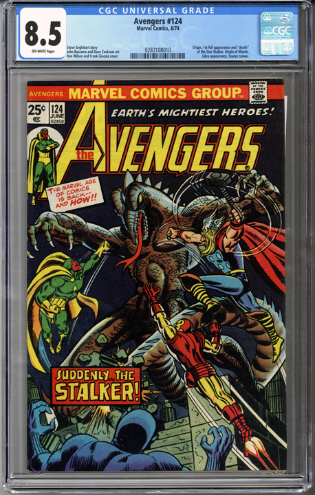 Colorado Comics - Avengers #124  CGC 8.5
