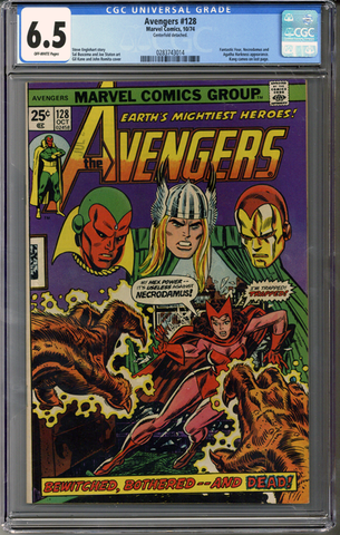 Colorado Comics - Avengers #128  CGC 6.5