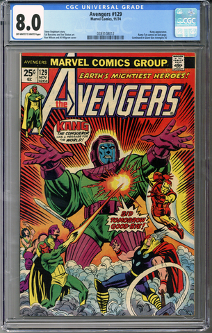 Colorado Comics - Avengers #129  CGC 8.0