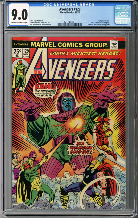 Colorado Comics - Avengers #129  CGC 9.0
