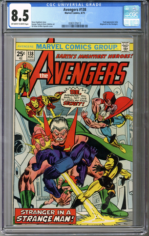 Colorado Comics - Avengers #138  CGC 8.5