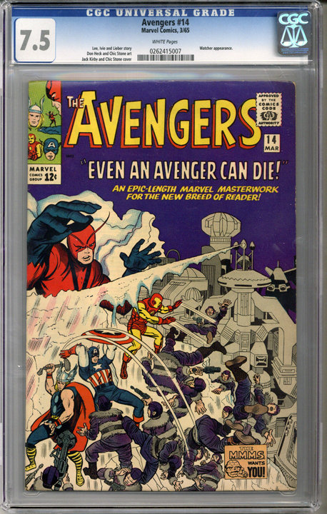 Colorado Comics - Avengers #14  CGC 7.5