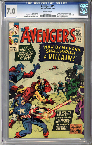 Colorado Comics - Avengers #15  CGC 7.0
