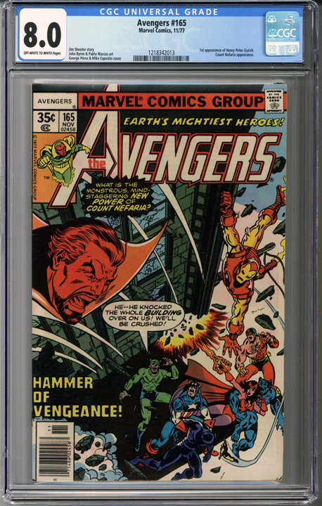 Colorado Comics - Avengers #165  CGC 8.0