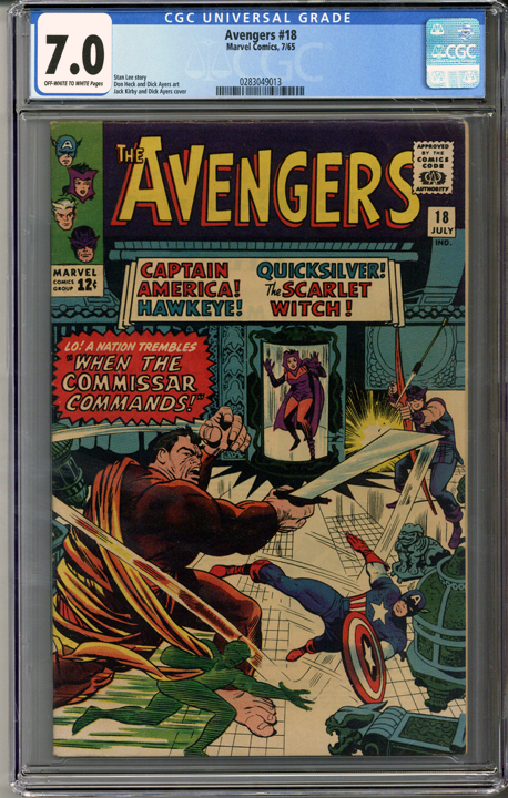 Colorado Comics - Avengers #18  CGC 7.0