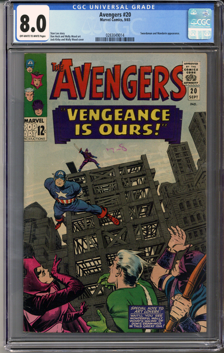 Colorado Comics - Avengers #20  CGC 8.0