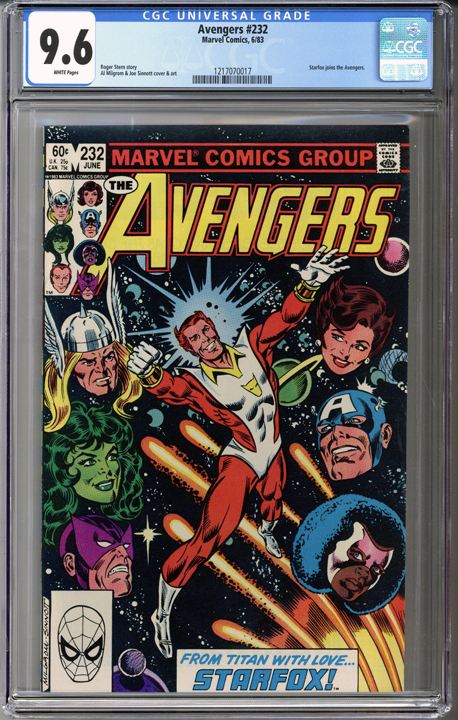 Colorado Comics - Avengers #232  CGC 9.6