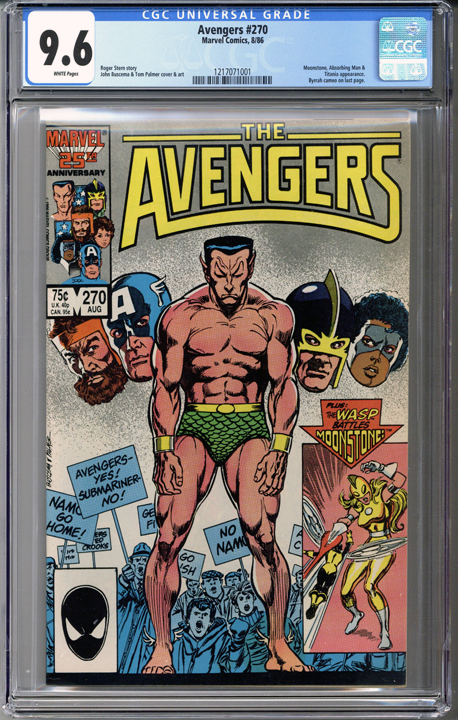 Colorado Comics - Avengers #270  CGC 9.6
