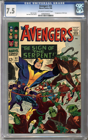 Colorado Comics - Avengers #32  CGC 7.5