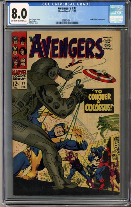 Colorado Comics - Avengers #37  CGC 8.0