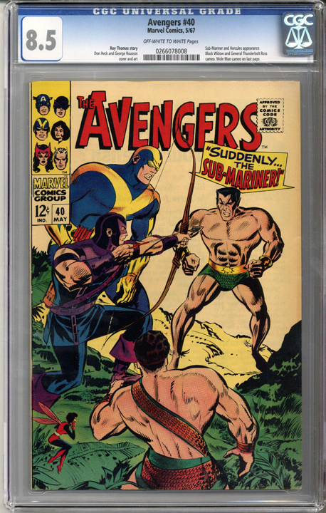 Colorado Comics - Avengers #40  CGC 8.5