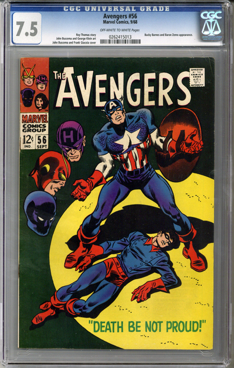 Colorado Comics - Avengers #56  CGC 7.5