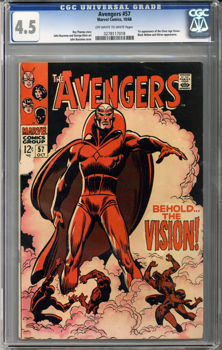 Colorado Comics - Avengers #57  CGC 4.5