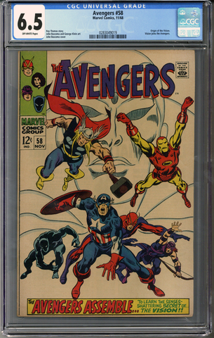 Colorado Comics - Avengers #58 CGC 6.5