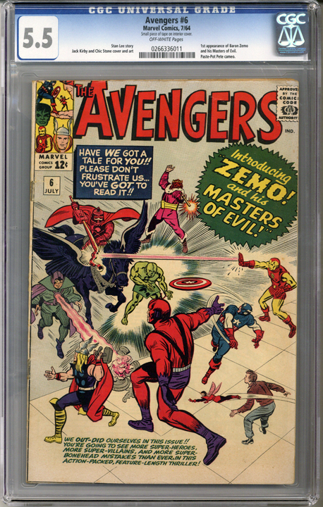 Colorado Comics - Avengers #6  CGC 5.5
