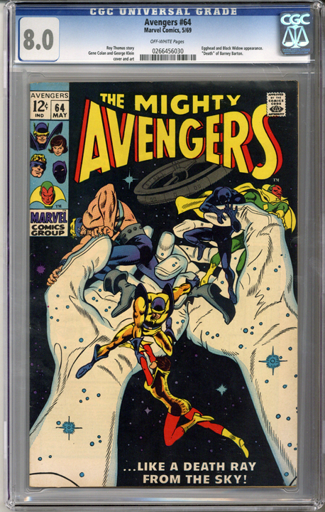 Colorado Comics - Avengers #64  CGC  8.0