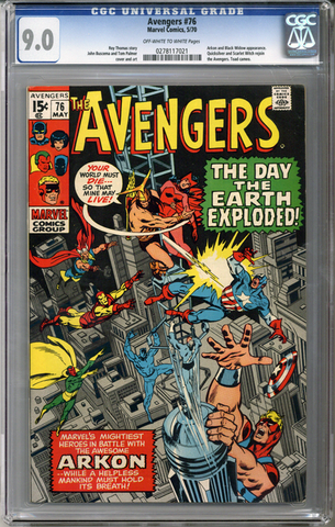 Colorado Comics - Avengers #76  CGC  9.0