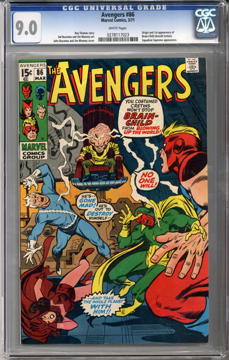 Colorado Comics - Avengers #86 CGC  9.0