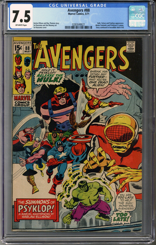 Colorado Comics - Avengers #88  CGC 7.5