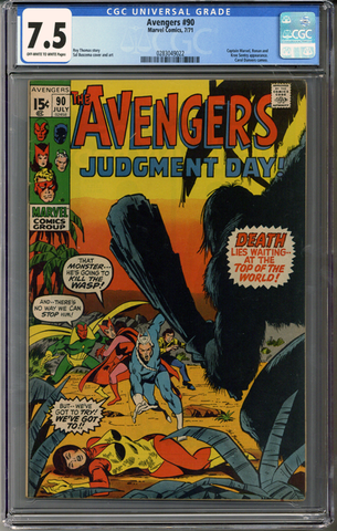 Colorado Comics - Avengers #90  CGC 7.5