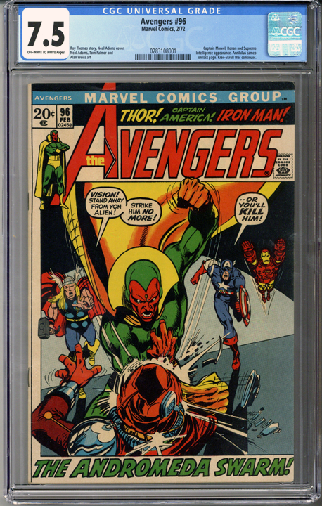 Colorado Comics - Avengers #96  CGC 7.5