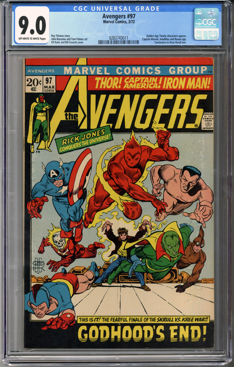 Colorado Comics - Avengers #97  CGC 9.0