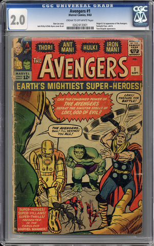Colorado Comics - Avengers #1  CGC 2.0