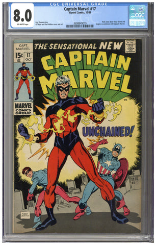 Captain Marvel #17 CGC 8.0