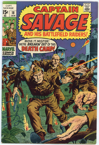 Captain Savage #18 VG