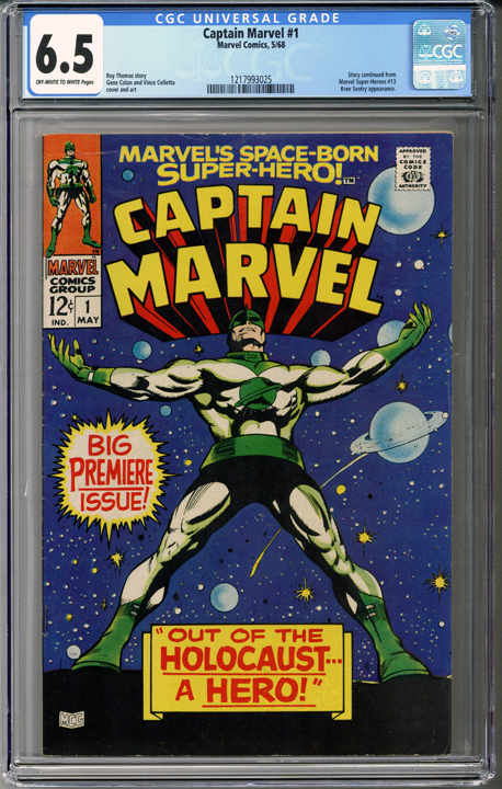 Captain Marvel #1  CGC 6.5