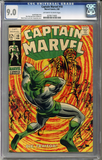 Captain Marvel #10  CGC 9.0