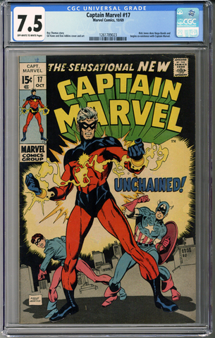 Captain Marvel #17 CGC 7.5