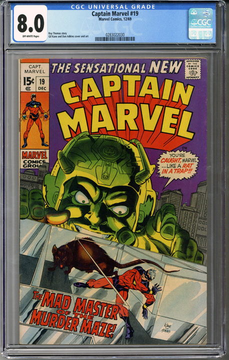 Captain Marvel #19  CGC 8.0