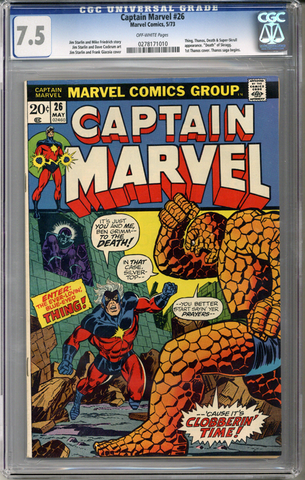 Captain Marvel #26  CGC 7.5