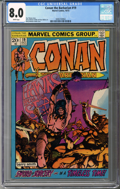 Conan the Barbarian #19  CGC 8.0