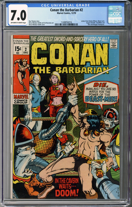Conan the Barbarian #2 CGC 7.0