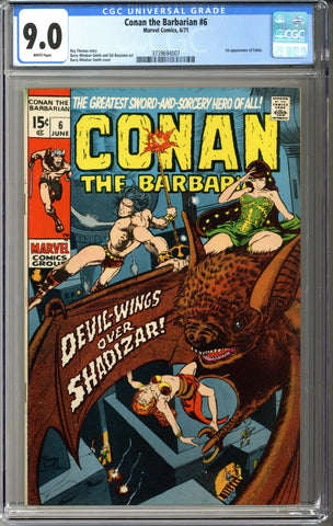 Conan the Barbarian #6 CGC 9.0