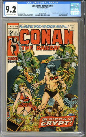 Conan the Barbarian #8 CGC 9.2