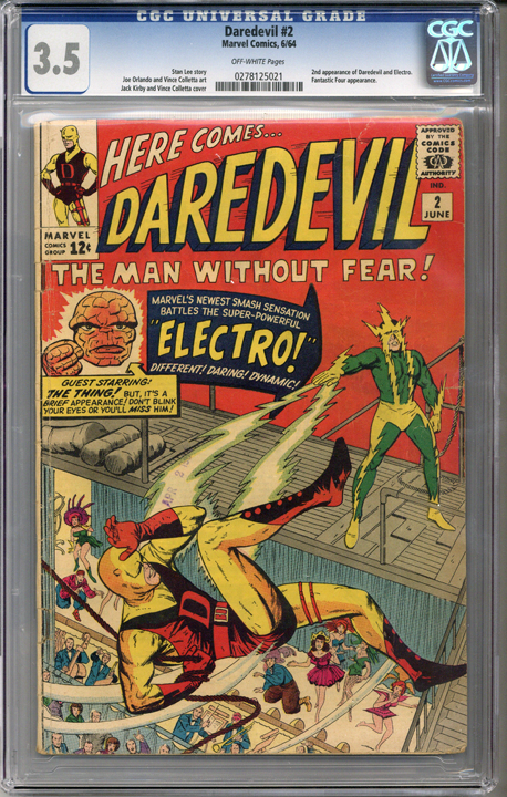 Colorado Comics - Daredevil #2  CGC 3.5