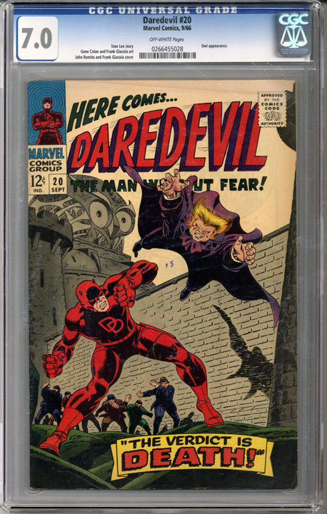 Colorado Comics - Daredevil #20  CGC 7.0