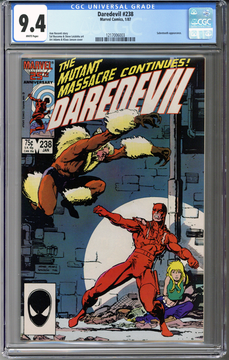 Colorado Comics - Daredevil #238  CGC 9.4