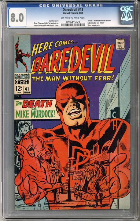 Colorado Comics - Daredevil #41  CGC 8.0
