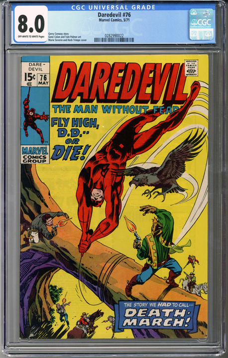Colorado Comics - Daredevil #76  CGC 8.0