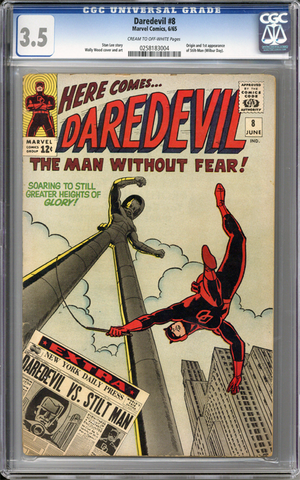 Colorado Comics - Daredevil #8  CGC 3.5